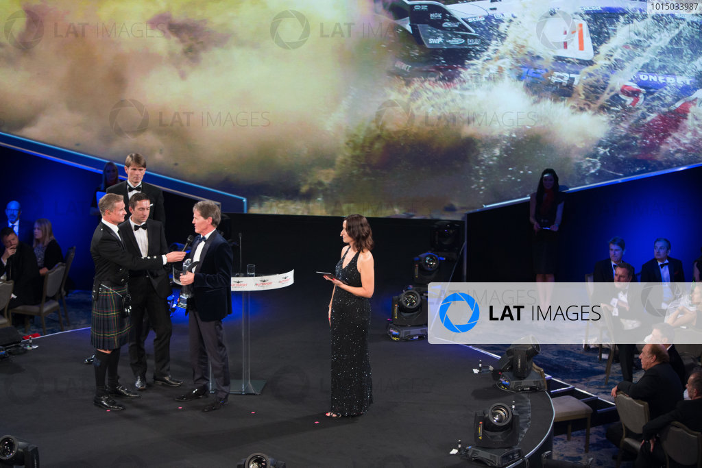 2017 Autosport Awards Grosvenor House Hotel, Park Lane, London. Sunday 3 December 2017. Malcolm Wilson accepts the Rally Car of the Year Award for the Ford Fiesta RS WRC. World Copyright: Joe Portlock/LAT Images  ref: Digital Image _L5R8586