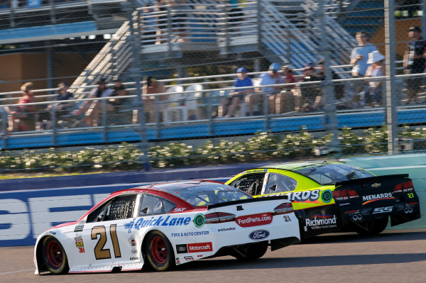 Monster Energy NASCAR Cup Series Ford EcoBoost 400 Homestead-Miami Speedway, Homestead, FL USA Sunday 19 November 2017 Ryan Blaney, Wood Brothers Racing, Motorcraft/Quick Lane Tire & Auto Center Ford Fusion World Copyright: Matthew T. Thacker LAT Images