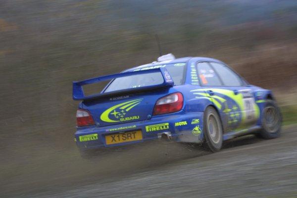 2001 FIA World Rally Championship.Rally Of Great Britain. Cardiff, Wales. November 22-25th.Toshi Arai, Subaru Impreza WRC.Stage Five.Photo: Paul Dowker/LAT Photographic.World - LAT Photographic.8 9mb DIgital File Only