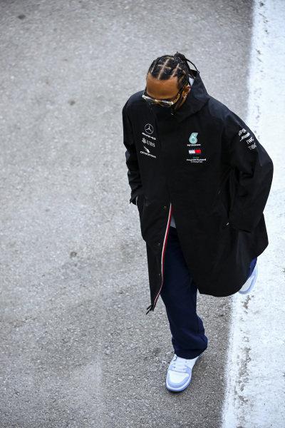 Lewis Hamilton, Mercedes-AMG Petronas F1 in the paddock
