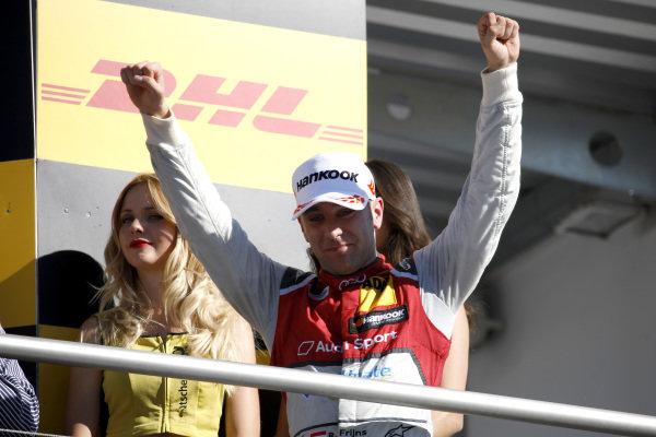 Podium: second place Robin Frijns, Audi Sport Team Abt Sportsline.