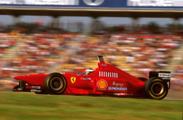 Hockenheim, German.26-28 July 1996.Michael Schumacher (Ferrari F310) 4th position.Ref-96 GER 15.World Copyright - LAT Photographic