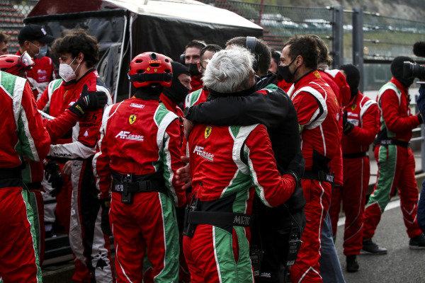 The AF Corse team celebrate