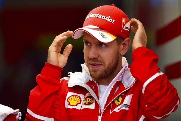 Sebastian Vettel (GER) Ferrari at Formula One World Championship, Rd2, Chinese Grand Prix, Practice, Shanghai, China, Friday 7 April 2017.
