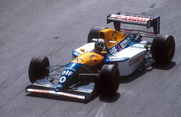1993 Monaco Grand Prix.Monte Carlo, Monaco.20-23 May 1993.Damon Hill (Williams FW15C Renault) 2nd position.Ref-93 MON 17.World Copyright - LAT Photographic