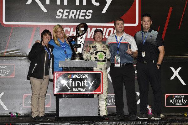 #9: Tyler Reddick, JR Motorsports, Chevrolet Camaro BurgerFi celebrates his Championship win