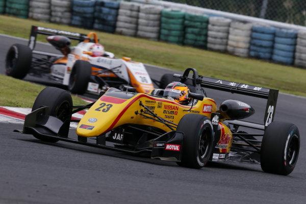 2017 Japanese Formula 3 Championship Autopolis, Japan. 8th - 9th September 2017. Rd 17 & 18. 3rd position Mitsunori Takaboshi ( #23 B-MAX NDDP F3 ) action World Copyright: Masahide Kamio / LAT Images Ref: 2017_JF3_Rd17&18_006