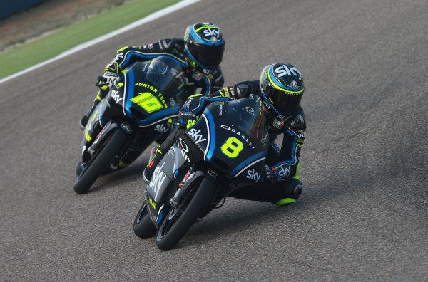 2017 Moto3 Championship - Round 14 Aragon, Spain. Saturday 23 September 2017 Nicolo Bulega, Sky Racing Team VR46, Foggia World Copyright: Gold and Goose / LAT Images ref: Digital Image 14003