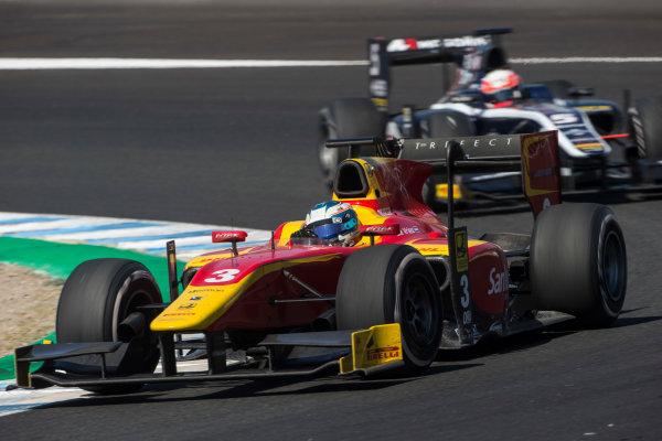 2017 FIA Formula 2 Round 10. Circuito de Jerez, Jerez, Spain. Sunday 8 October 2017. Nyck De Vries (NED, Racing Engineering).  Photo: Andrew Ferraro/FIA Formula 2. ref: Digital Image _FER3610