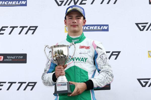 2017 Ginetta nior Champinship,  Brands Hatch, Kent. 30th September - 1st October 2017, Kiern Jewiss (GBR) Douglas Motorsport  World copyright. JEP/LAT Images