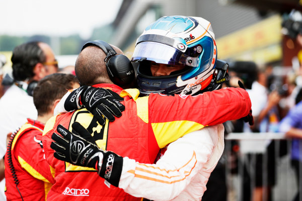 Spa Francorchamps, Belgium.  Sunday 27 August 2017 Nyck De Vries (NED, Racing Engineering).  Photo: Mauger/FIA Formula 2 ref: Digital Image _56I3497