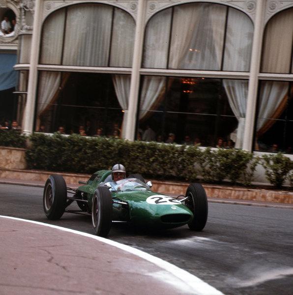 Monte Carlo, Monaco.31/5-3/6 1962.Jack Brabham (Brabham BT24 Climax) 8th position.Ref-3/0498.World Copyright - LAT Photographic