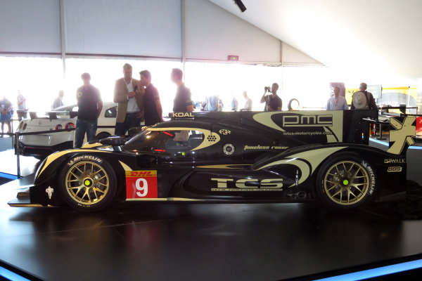 Official unveiling of the all new Lotus T129 LMP1 prototype car at the Innovation Centre. The Kodewa Racing Team are now hopeful of having the car ready for the fifth round of the WEC: the 6 Hours of Circuit of the Americas in Austin, Texas on 20 September 2014. 24 Heures du Mans, Le Mans, France, 12 June 2014.