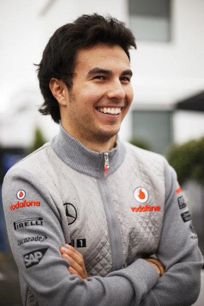 8th June 2013 Sergio Perez, McLaren World Copyright: Charles Coates/  ref: Digital Image _N7T5962