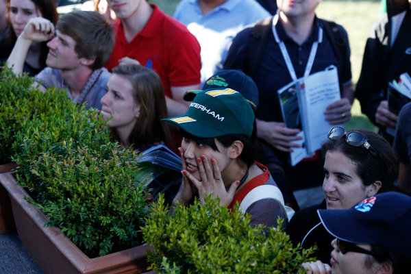 Albert Park, Melbourne, Australia Thursday 14th March 2013 A Caterham F1 fan World Copyright: Charles Coates/  ref: Digital Image _N7T0509
