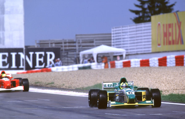International Formula 3000 Championship Nurburgring, Germany. 19th - 20th May 2000 Race winner Bruno Junqueira ( Petrobras Jnr Team ), leads 2nd place finisher Andreas Scheld (Fortec).World - Bellanca/LAT Photographic