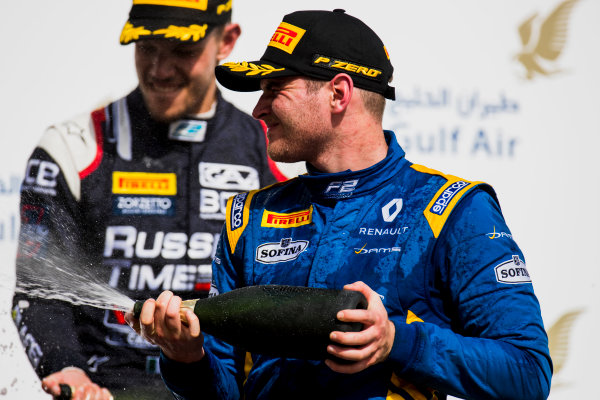 2017 FIA Formula 2 Round 1. Bahrain International Circuit, Sakhir, Bahrain.  Sunday 16 April 2017. Oliver Rowland (GBR, DAMS)  Photo: Zak Mauger/FIA Formula 2. ref: Digital Image _56I2140