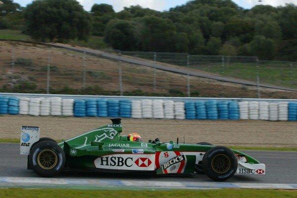 Antonio Pizzonia (BRA) Jaguar Racing R3 Formula One Testing , 12 - 15 December 2002Jerez, Spain.DIGITAL IMAGE