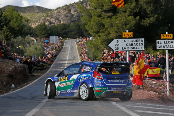 2012 FIA World Rally Championship Round 13-Rally Spain 08-11September 2012. Petter Solberg, Ford WRC, Action.. Worldwide Copyright: McKlein/LAT