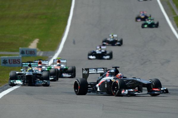 Nico Hulkenberg (GER) Sauber C32. Formula One World Championship, Rd9, German Grand Prix, Race Day, Nurburgring, Germany, Sunday 7 July 2013.