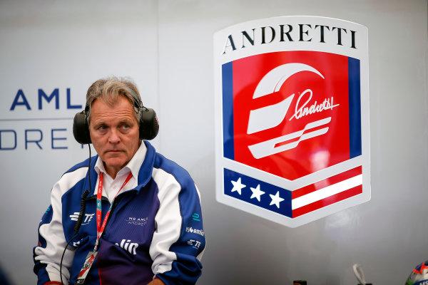 Practice Session 3. Andretti. London e-Prix, Battersea, London, United Kingdom.   Sunday 3 July 2016. Photo: Adam Warner / LAT / FE. ref: Digital Image _L5R2931