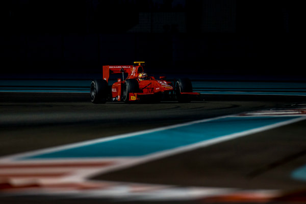 2016 GP2 Series Test 3 Yas Marina Circuit, Abu Dhabi, United Arab Emirates. Friday 2 December 2016. Charles Leclerc (MON, PREMA Racing)  Photo: Zak Mauger/GP2 Series Media Service. ref: Digital Image _L0U4756