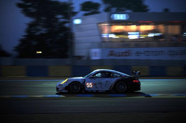 Circuit de La Sarthe, Le Mans, France. 13th - 17th June 2012. RacePaul Daniels/Markus Palttala/Joel Camathias, JWA-AVILA, No 55 Porsche 911 RSR (997). Photo: Jeff Bloxham/LAT Photographic. ref: Digital Image DSC_4486