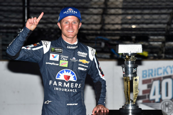 Monster Energy NASCAR Cup Series Brickyard 400 Indianapolis Motor Speedway, Indianapolis, IN USA Sunday 23 July 2017 Kasey Kahne, Hendrick Motorsports, Chevrolet SS Victory Lane World Copyright: Nigel Kinrade LAT Images