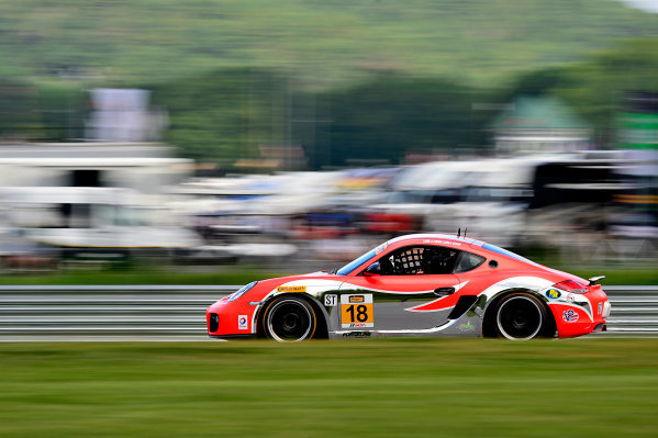 IMSA Continental Tire SportsCar Challenge Lime Rock Park 120 Lime Rock Park, Lakeville, CT USA Friday 21 July 2017 18, Porsche, Porsche Cayman, ST, Aurora Straus, Connor Bloum World Copyright: Gavin Baker LAT Images