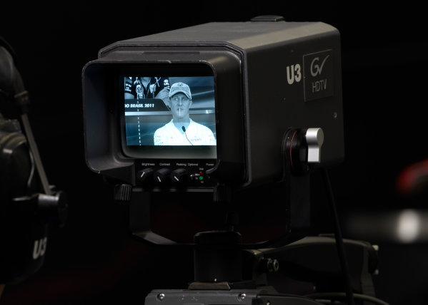 Interlagos, Sao Paulo, Brazil. 24th November 2011. Michael Schumacher, Mercedes GP W02. Portrait. Detail.  World Copyright: Steve Etherington/LAT Photographic ref: Digital Image SNE23680