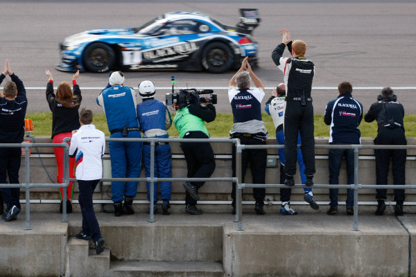 2015 British GT Championship, Rockingham, 2nd-3rd May 2015, Marco Attard / Alexander Sims Ecurie Ecosse BMW Z4 GT3  Worl copyright. Jakob Ebrey/LAT Photographic
