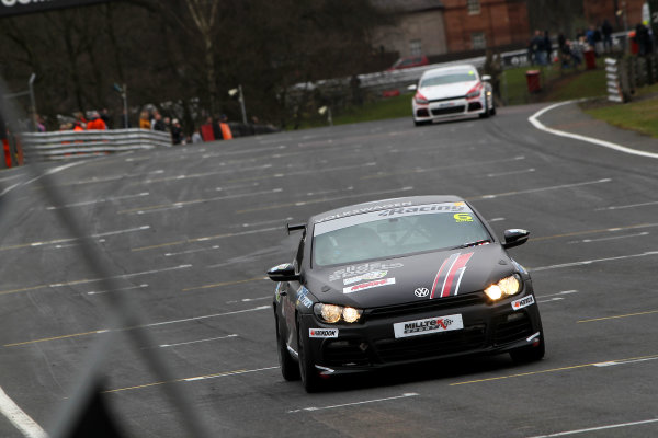 2015 Volkswagen Racing Cup, Oulton Park, Cheshire. 4th - 6th April 2015. David Sutton (GBR) SlideSports Scirocco R. World Copyright: Ebrey / LAT Photographic.