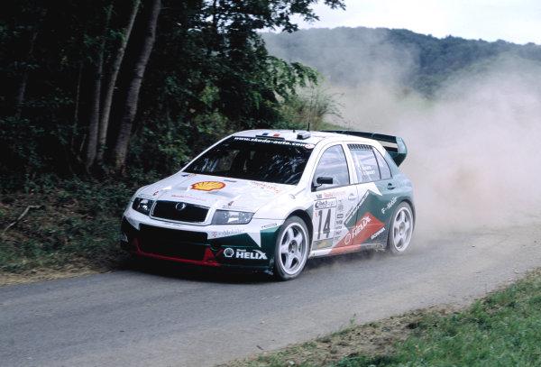 2003 World Rally ChampionshipRally Deutschland, Germany. 25th - 27th July 2003.Didier Auriol / Denis Giraudet (Skoda Fabia WRC), action.World Copyright: McKlein/LAT Photographicref: 35mm Image A23
