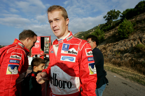 2004 FIA World Rally Champs. Round thirteen, Rally Italia Sardinia.30th September - 3rd October 2004.Harri Rovanpera, Peugeot, portrait.World Copyright: McKlein/LAT