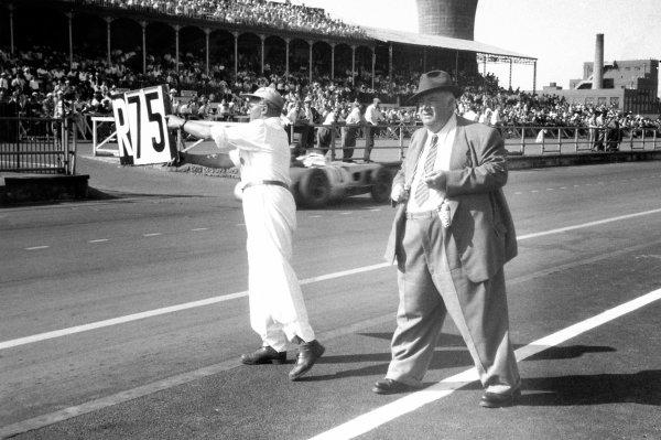 1955 British Grand Prix. Aintree, Great Britain. 16 July 1955. Alfred Neubauer, Mercedes-Benz Team Manager. Ref: 55/317/22. World Copyright: LAT Photographic