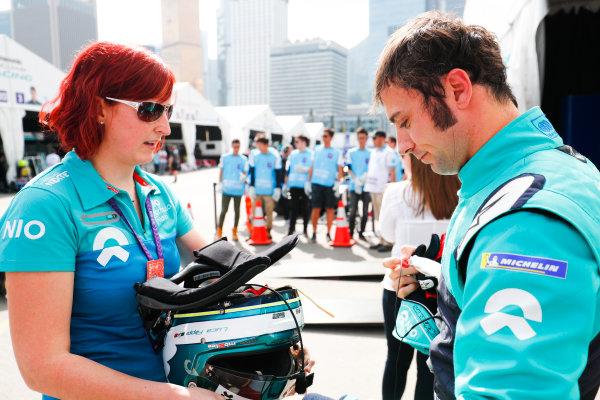 2017/2018 FIA Formula E Championship. Round 1 - Hong Kong, China. Saturday 02 December 2017. Luca Filippi (ITA), NIO Formula E Team, NextEV NIO Sport 003. Photo: Sam Bloxham/LAT/Formula E ref: Digital Image _J6I4356