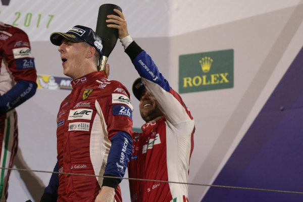 2017 FIA World Endurance Championship, Bahrain International Circuit, Bahrain. 16th-18th November 2017, #51 AF Corse Ferrari 488 GTE: James Calado,   World Copyright. JEP/LAT Images