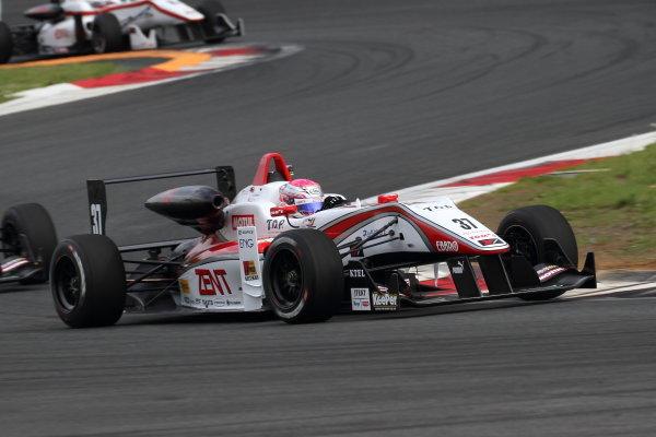 2016 Japanese Formula 3 Championship Fuji, Japan. 14th-15th May 2016. Rd 3 & 4. Sho Tsuboi ( #37 ZENT TOM'S F314 ), 3rd position. World Copyright: Hideaki Kobayashi/LAT Ref: (filenamebase}