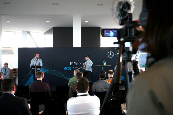 Mercedes F1 W08 Formula 1 Launch.