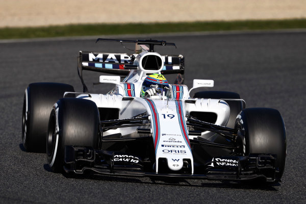 Circuit de Barcelona Catalunya, Barcelona, Spain. Tuesday 07 March 2017. Felipe Massa, Williams FW40 Mercedes. World Copyright: Glenn Dunbar/LAT Images ref: Digital Image _31I5279