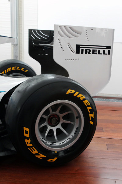The 2011 GP2 Series car is unveiled with Pirelli supporting the series.