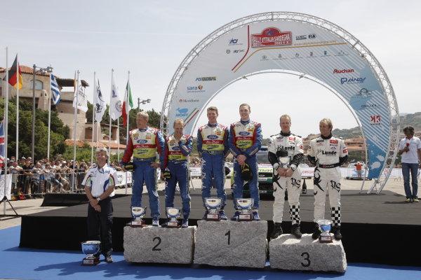 Round 6Rally d'Italia Sardinia 200921st - 24th  May 2009Mark Deans, Jarmo Lehtinen, Mikko Hirvonen, Mikka Anttila, Jari-Matti Latvala, Phil Mills, Petter Solberg, WRC, PodiumWorldwide Copyright: McKlein/LAT