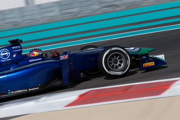 2015 GP2 Series Test 3. Yas Marina Circuit, Abu Dhabi, United Arab Emirates. Wednesday 2 December 2015. Dean Stoneman (GBR, Carlin)  World Copyright: Sam Bloxham/LAT Photographic. ref: Digital Image _SBL0368