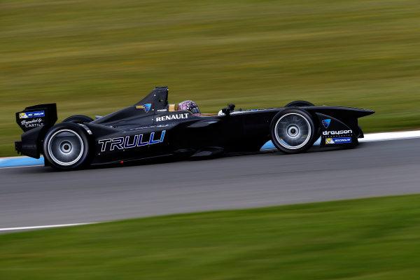 FIA Formula E Test Day, Donington Park, UK.  9th - 10th July 2014.  Michela Cerruti, Trulli GP. Photo: Glenn Dunbar/FIA Formula E ref: Digital Image _89P3677