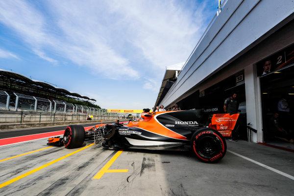 Hungaroring, Budapest, Hungary.  Wednesday 02 August 2017. Lando Norris, McLaren MCL32 Honda. World Copyright: Zak Mauger/LAT Images  ref: Digital Image _56I8455