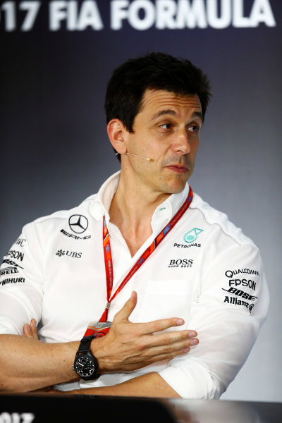 Red Bull Ring, Spielberg, Austria. Friday 07 July 2017. Toto Wolff, Executive Director (Business), Mercedes AMG, in the Friday press conference. World Copyright: Andy Hone/LAT Images ref: Digital Image _ONY9991