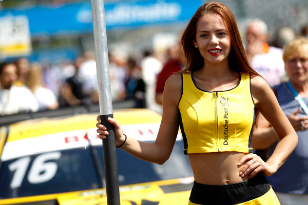2017 DTM Round 3 Hungaroring, Budapest, Hungary. Sunday 18 June 2017. Grid girl of Timo Glock, BMW Team RMG, BMW M4 DTM World Copyright: Alexander Trienitz/LAT Images ref: Digital Image 2017-DTM-R3-HUN-AT1-2247