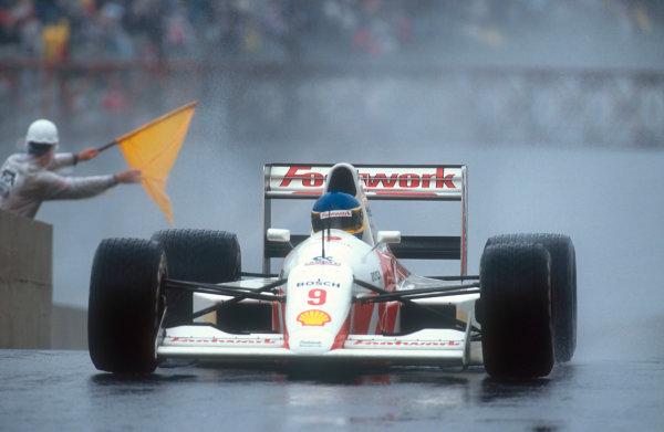1991 Brazilian Grand Prix.Interlagos, Sao Paulo, Brazil.22-24 March 1991.Michele Alboreto (Footwork A11C Porsche). He failed to qualify.Ref-91 BRA 14.World Copyright - LAT Photographic