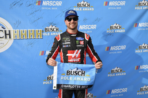 #41: Kurt Busch, Stewart-Haas Racing, Ford Fusion Haas Automation/Monster Energy wins the pole