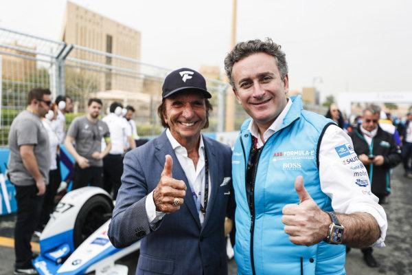 Alejandro Agag, CEO, Formula E, and Emerson Fittipaldi